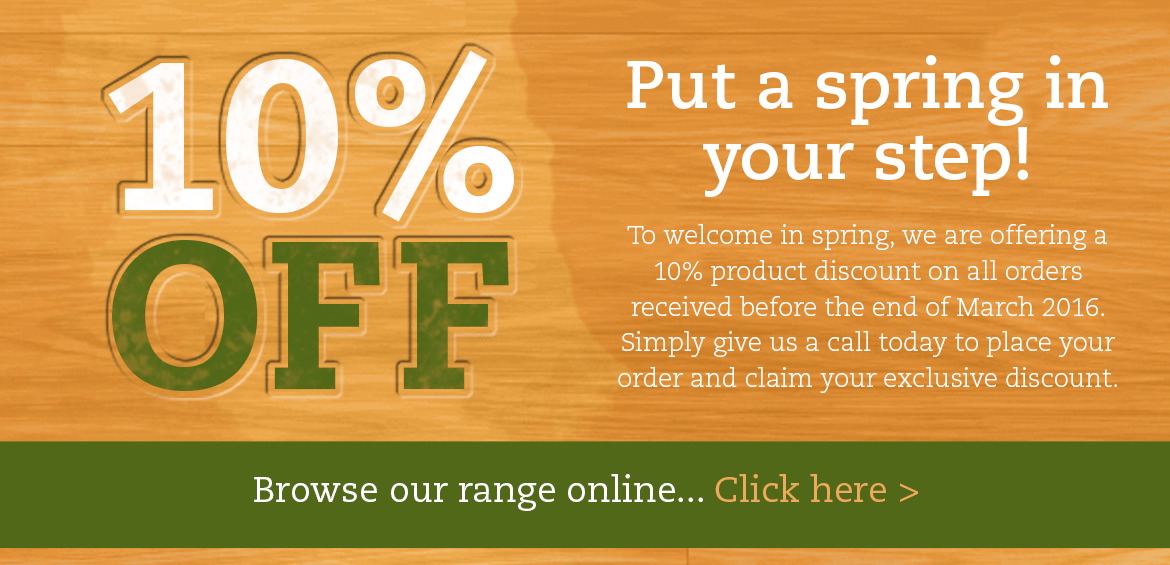 put a spring in your step 10% off