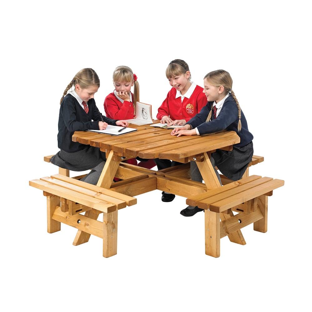 octagonal junior picnic bench