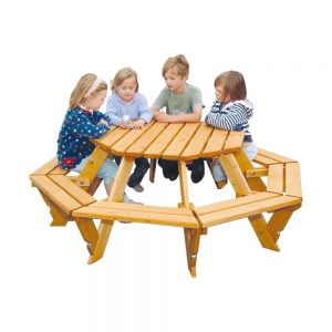 octagonal infant picnic bench+