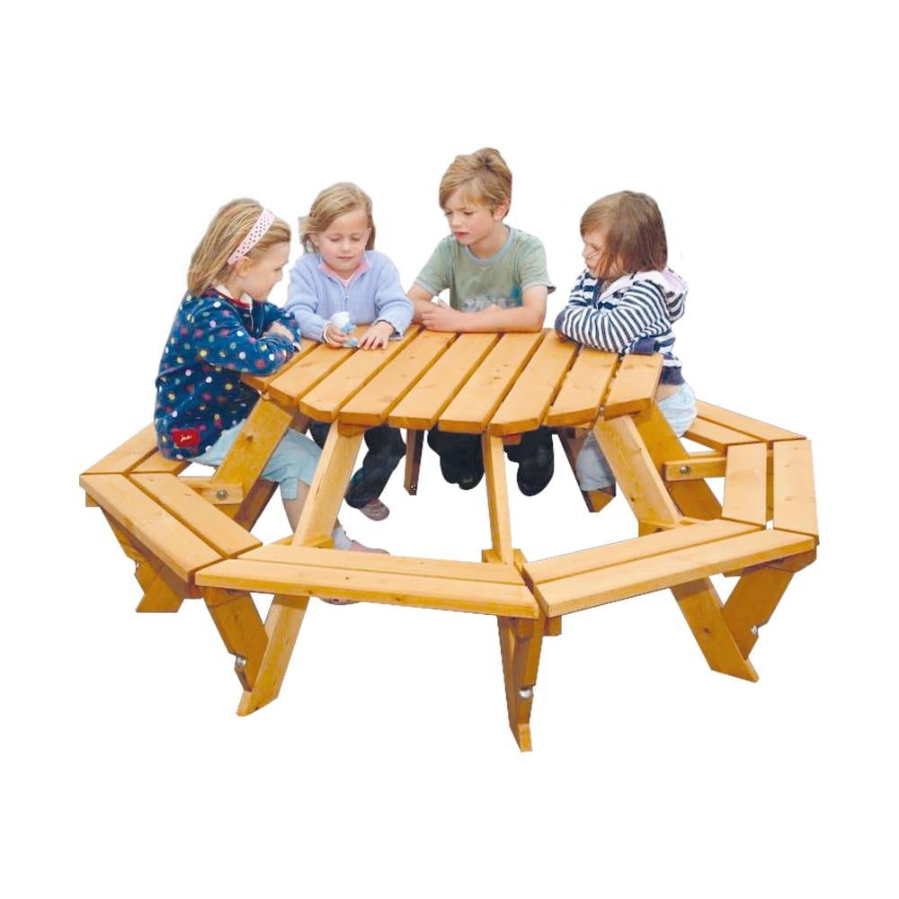octagonal infant picnic bench+