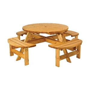cotswold round picnic bench