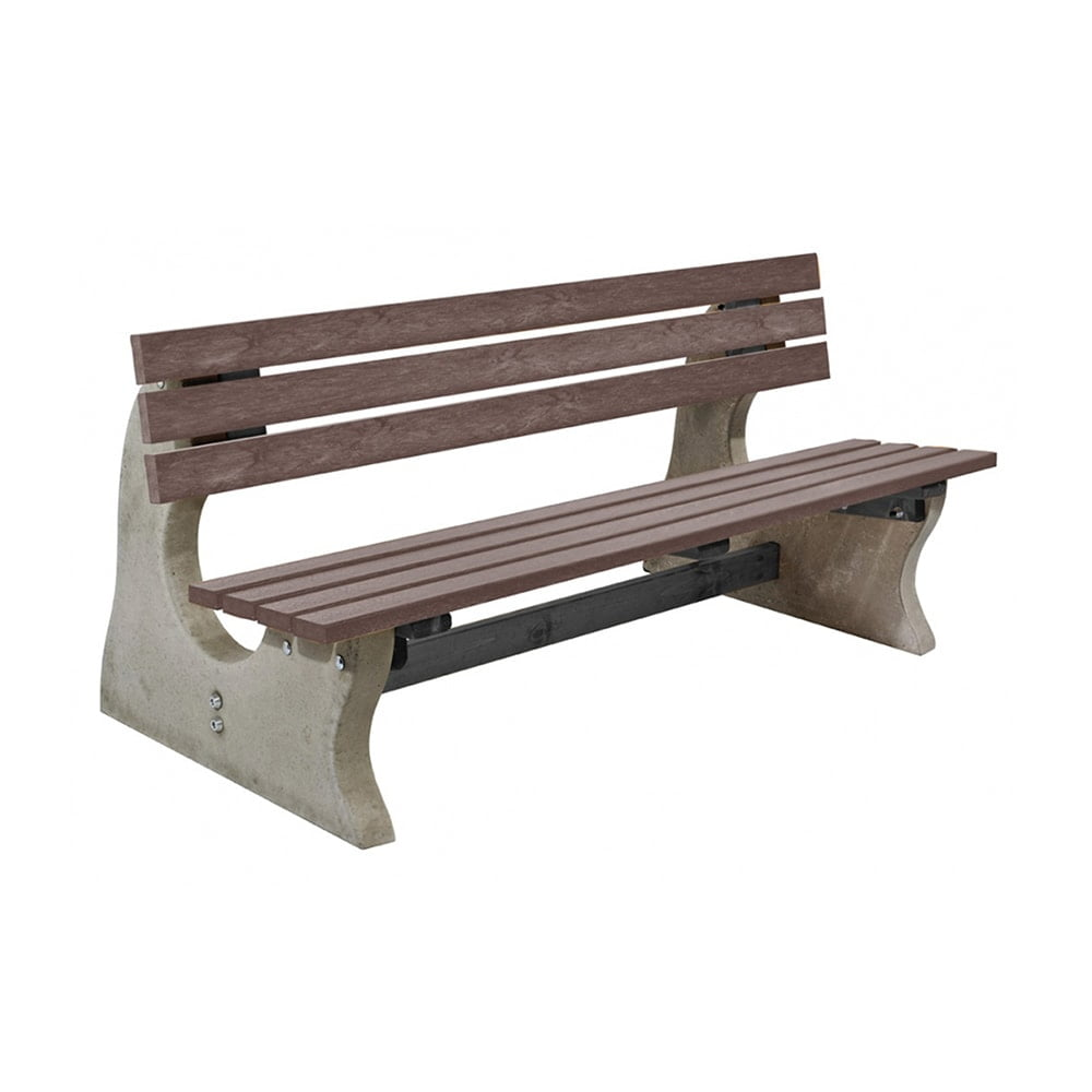 Park Bench Recycled Plastic Brown