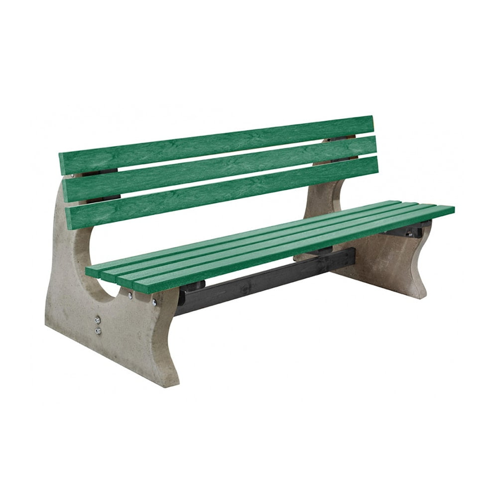 Park Bench Recycled Plastic Green