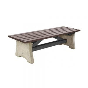 brown recycled plastic pennine bench