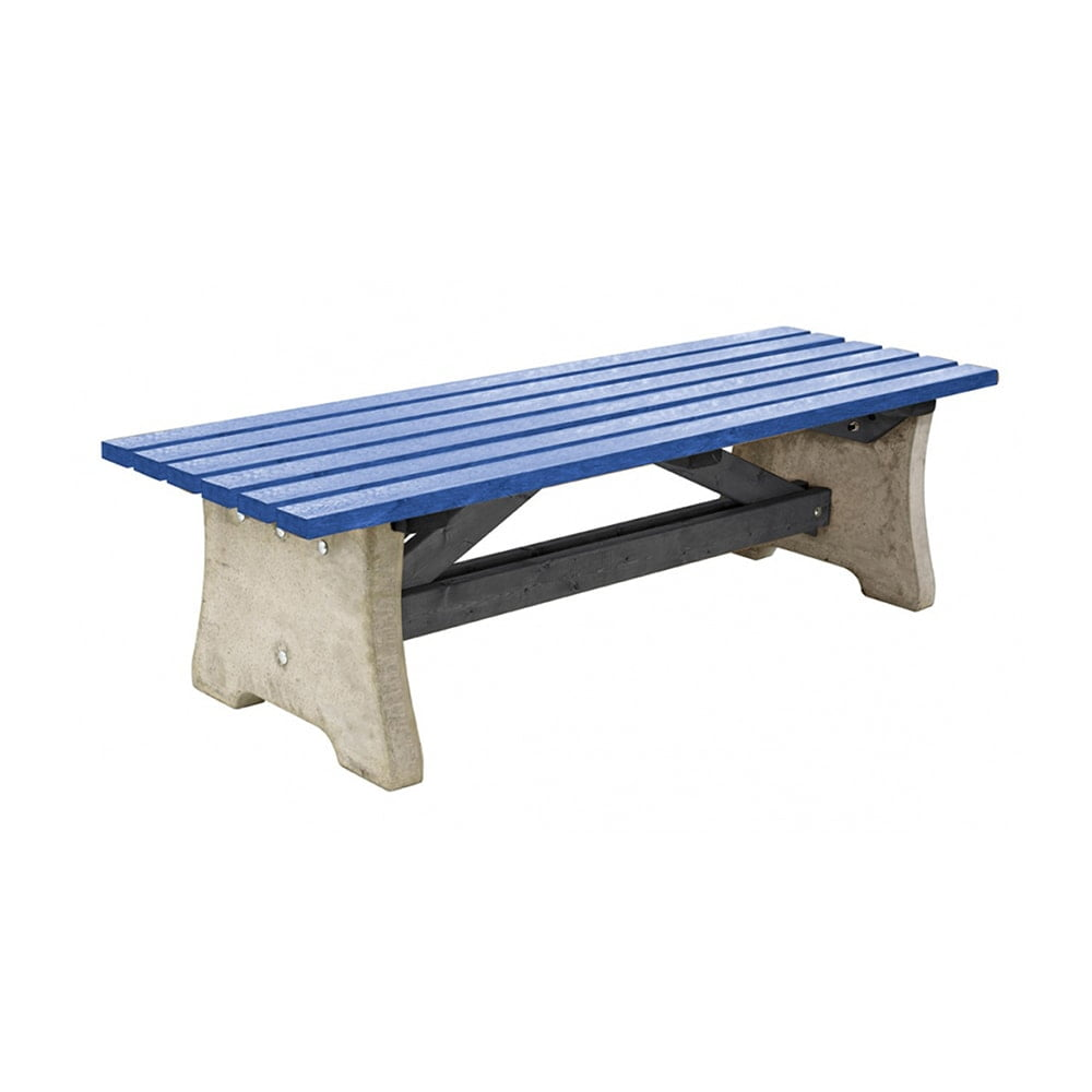 blue recycled plastic pennine bench