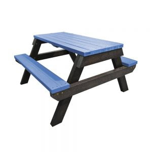 blue melton picnic bench
