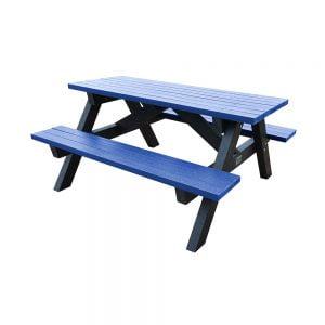 blue loversall picnic bench