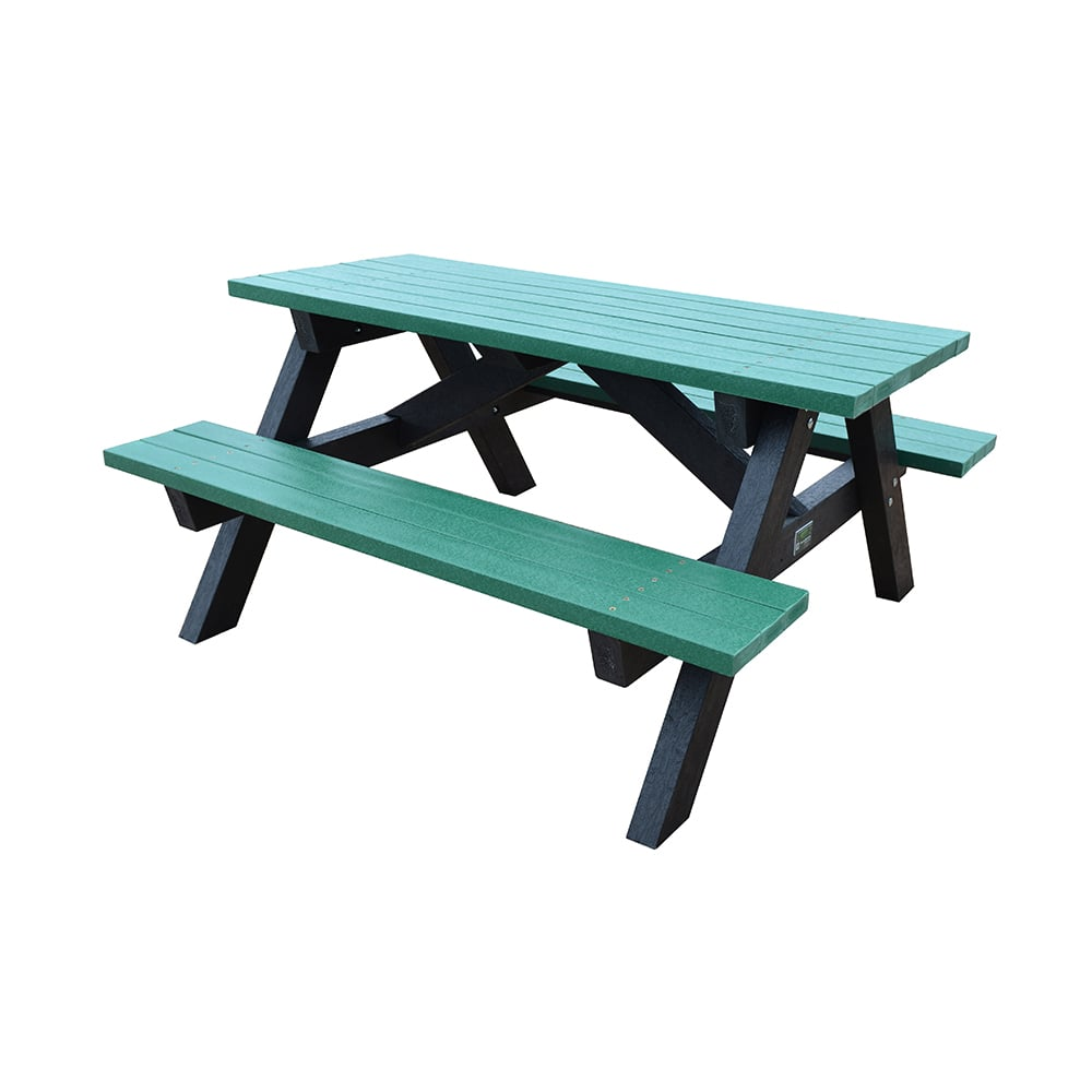 green lowersall picnic bench
