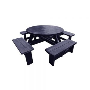 blue junior hatfield round picnic table