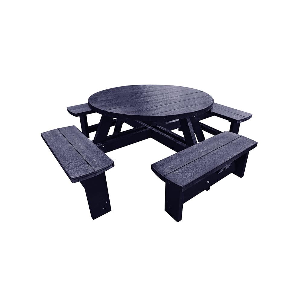 blue junior hatfield round picnic table