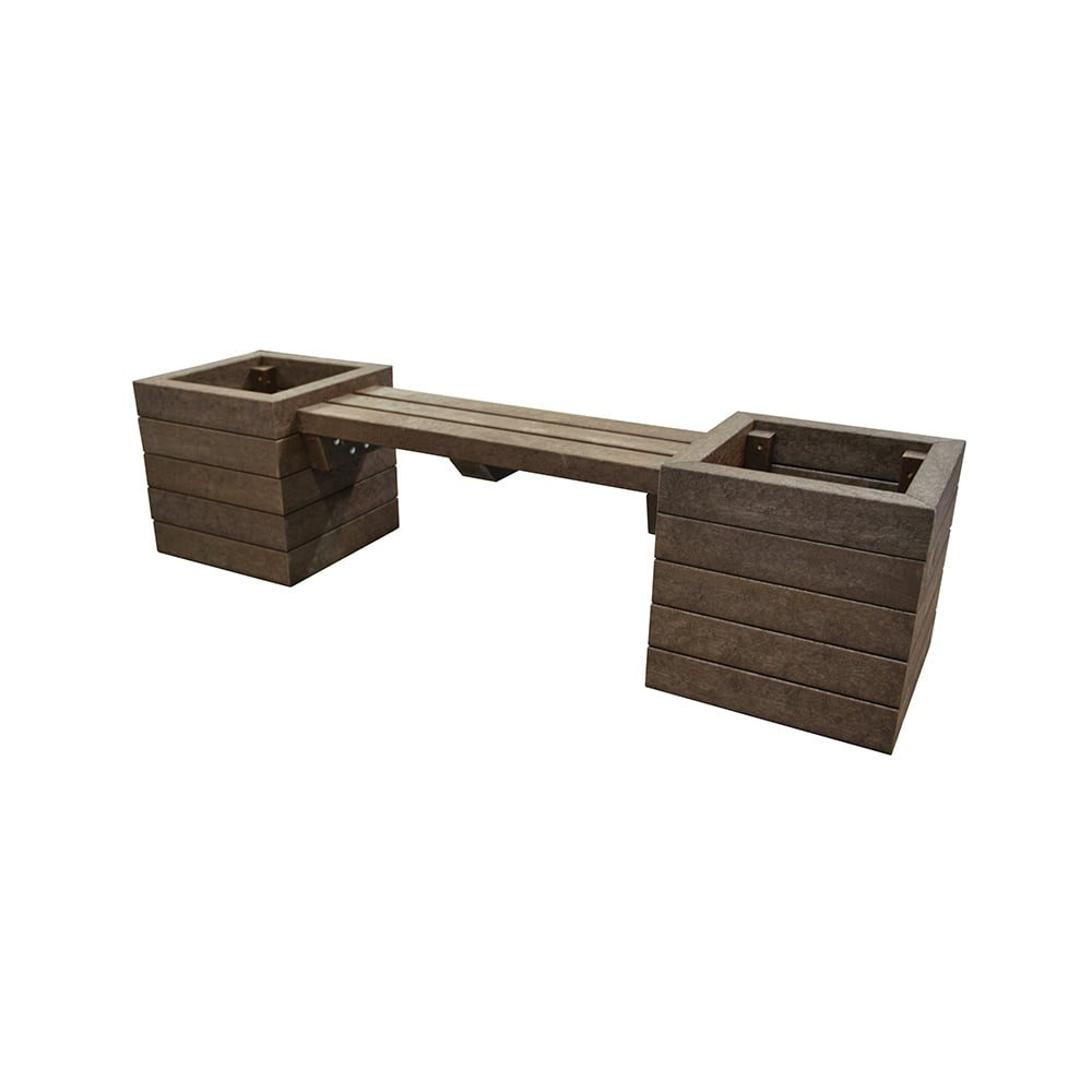 brown hickleton planter with seat