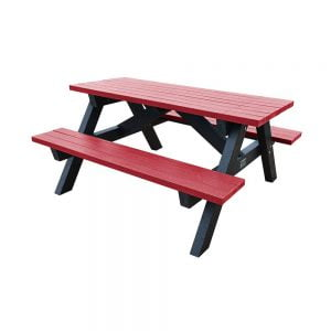 Loversall Picnic Bench Red