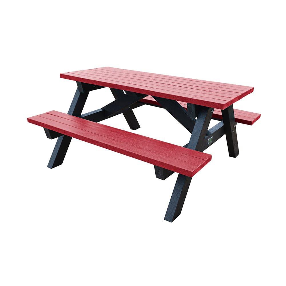 Loversall Picnic Bench Red