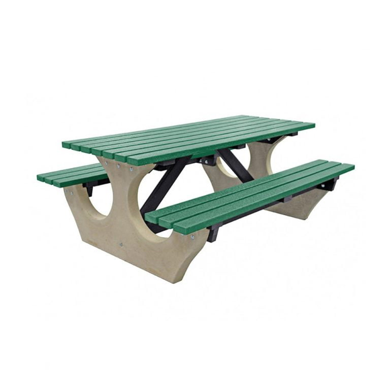 The Big Bench Recycled Plastic Green Bench no parasol