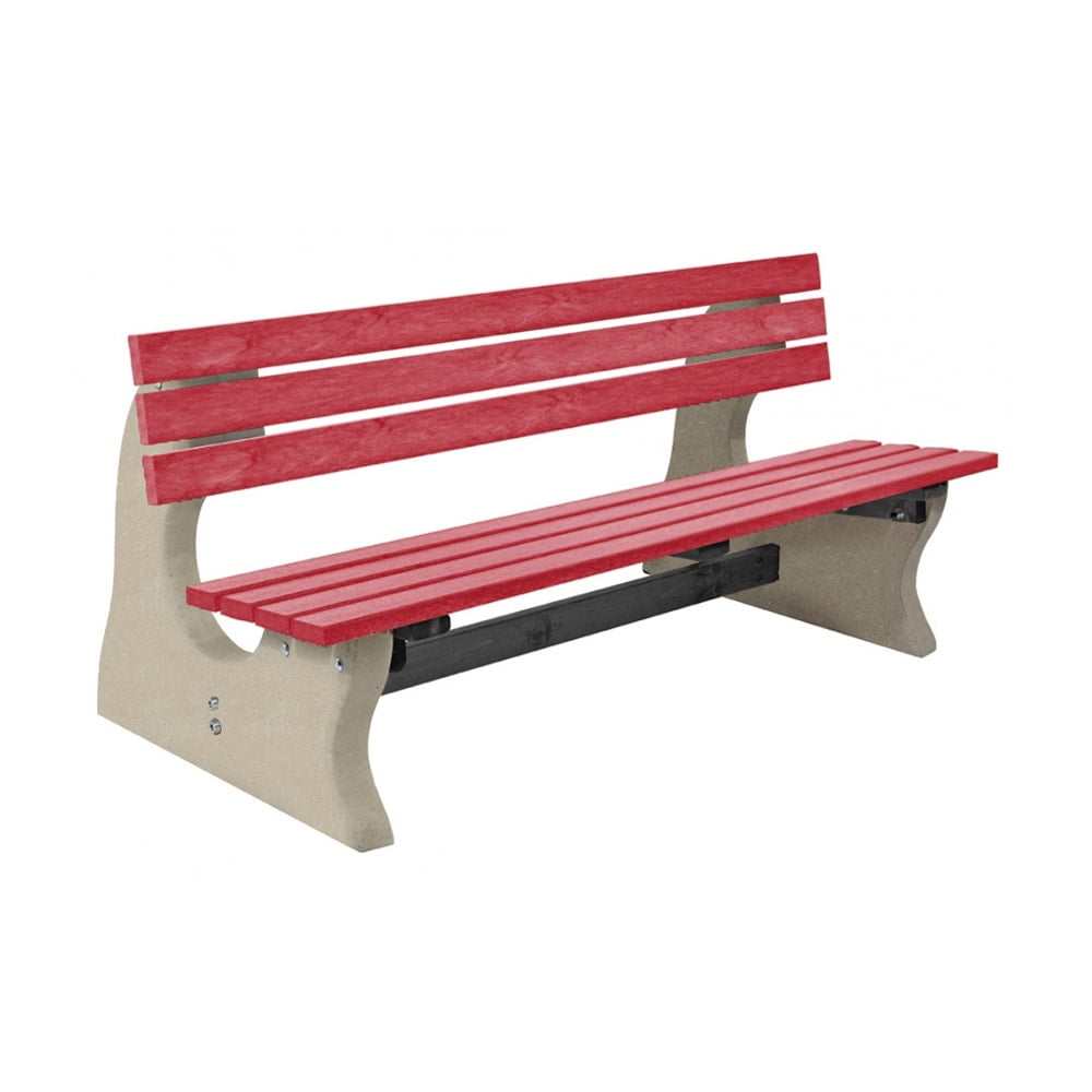 Park Bench Recycled Plastic Red