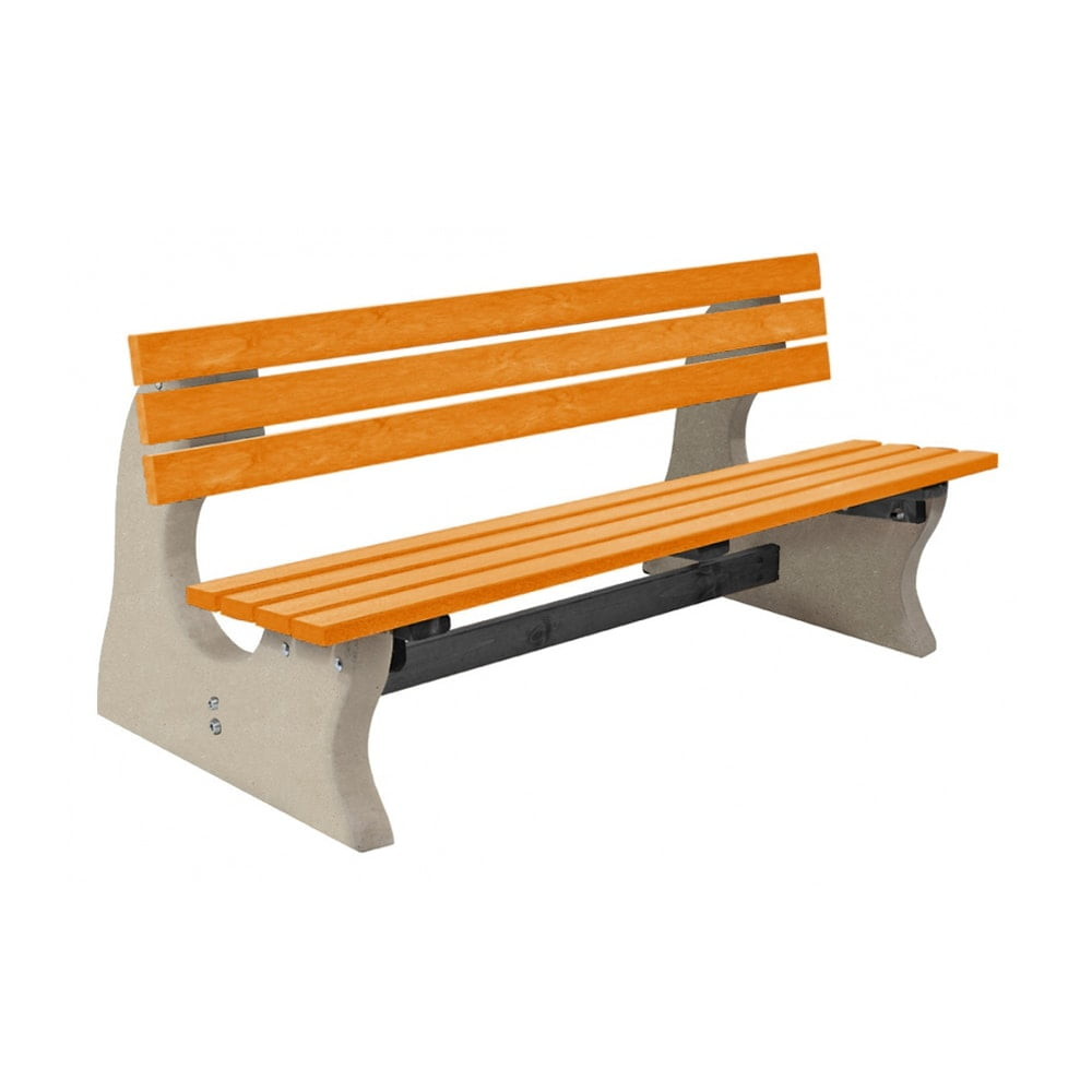 Park Bench Recycled Plastic Yellow