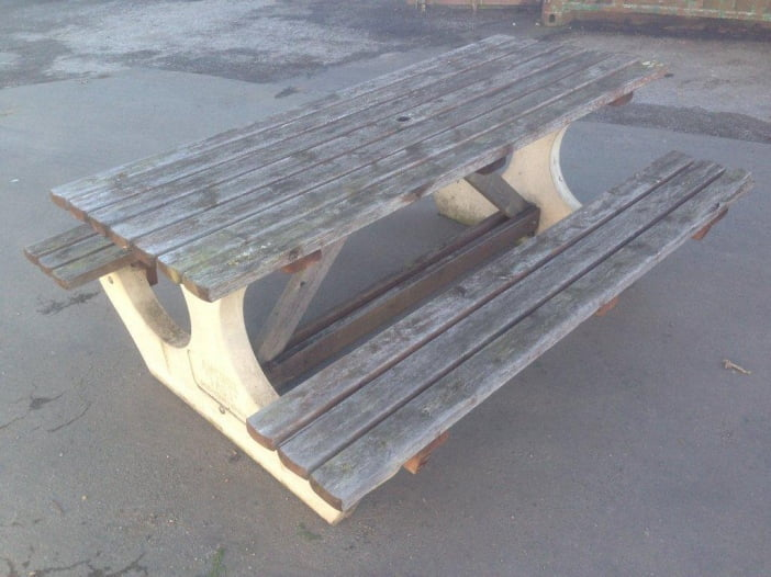anchor fast bench before power wash